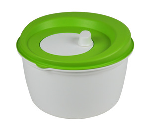 greenline-Salatschleuder 5 Liter, mit Siebeinsatz und Drehkurbel im Deckel - greenline