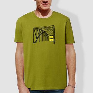 """Herren T-Shirt, """"Stadtrundfahrt"""", Moss Green - little kiwi"""