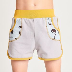 "Shorts aus Bio-Baumwolle ""Summersweat Grau/Be Wild"" - Cheeky Apple"