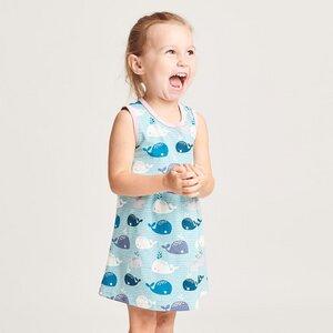 """Ärmelloses Kleidchen aus Bio-Baumwolle """"Wale/Zartrosa"""" - Cheeky Apple"""