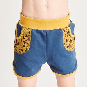 "Shorts aus Bio-Baumwolle ""Summersweat Indigo/Tipi Tält"" - Cheeky Apple"