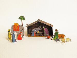 Weihnachskrippe aus Papier - Kolor