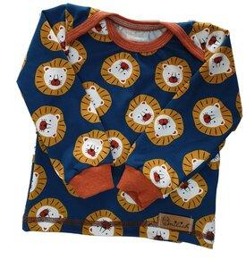 Babyshirt aus Biojersey Löwenkopf - Omilich