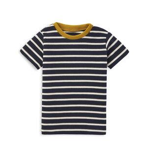 Gestreiftes Kinder T-Shirt Dunkelblau - internaht
