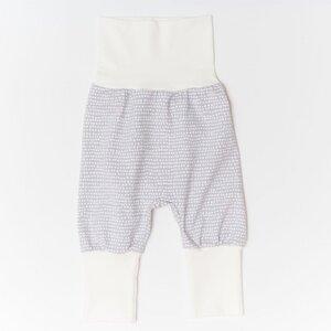 "Pumphose aus Bio-Baumwolle ""Baby Basic"" Dotted Lines Grau/Ecru - Cheeky Apple"
