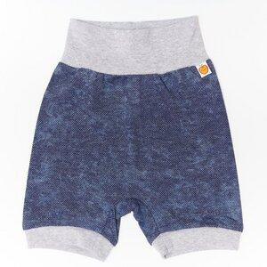 """Basic-Shorts für Babys und Kinder aus Bio-Baumwolle """"Baby Basic Pique"""" Jeansblau/Grau - Cheeky Apple"""