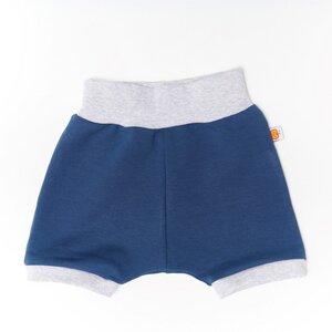 """Basic-Shorts für Babys und Kinder aus Bio-Baumwolle """"Baby Basic Summersweat"""" Indigoblau/Grau - Cheeky Apple"""