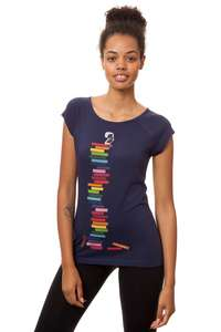 Damen T-Shirt Books Girl Bio Fair - FellHerz