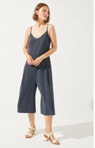 Turrid Jumpsuit Blue aus Tencel, Leinen und Biobaumwolle - CUS