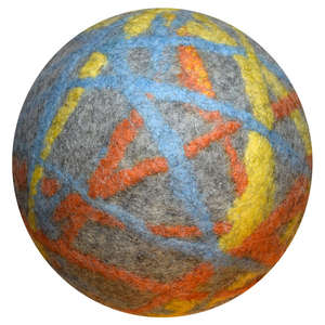 Filzball bunt Made in Germany - Weicher Spielball für drinnen - Lou-i