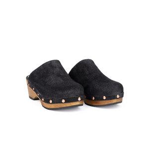 Holzclog für Damen 'Amsterdam' Schuh aus pflanzlich gegerbtem Leder - Libertad