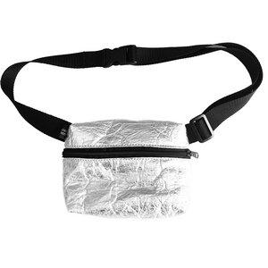 Gürteltasche Bauchtasche HIP BAG aus Pinatex® minimalistisches Design Silber - isonca
