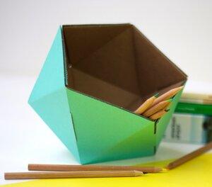 Stifte-Box aus Pappe - Kolor