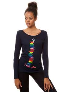 Damen Longsleeve Books Girl Bio Fair - FellHerz