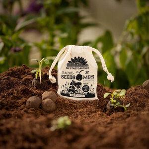 """8 Seedbombs """"Unkraut"""" im Mini-Jutebeutel - Die Stadtgärtner"""