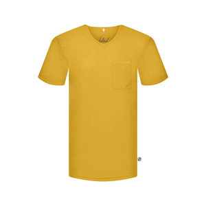 Pocket V-Neck T-Shirt Forestfibre - bleed