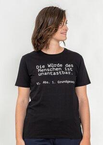 T-Shirt Die Würde des Menschen ist unantastbar - Green Size