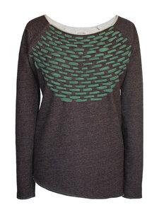 WEAVED Terry Sweatshirt - schwarz meliert - woodlike