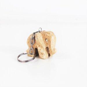 Schlüsselanhänger Elefant aus Onyx - Mitienda Shop