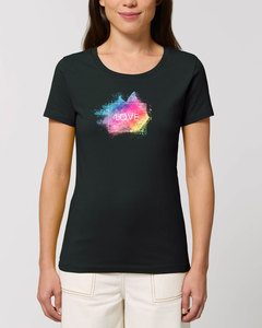 "Bio Damen Rundhals T-Shirt Amorous ""Colour Love"" von Human Family - Human Family"