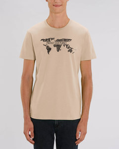 """Bio Unisex Rundhals T-Shirt """"Protect our Planet""""  - Human Family"""