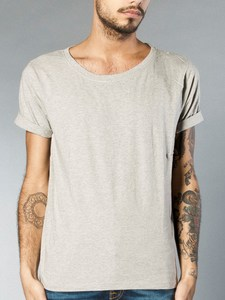 Wide Neck T-Shirt greymelange 	 - Nudie Jeans