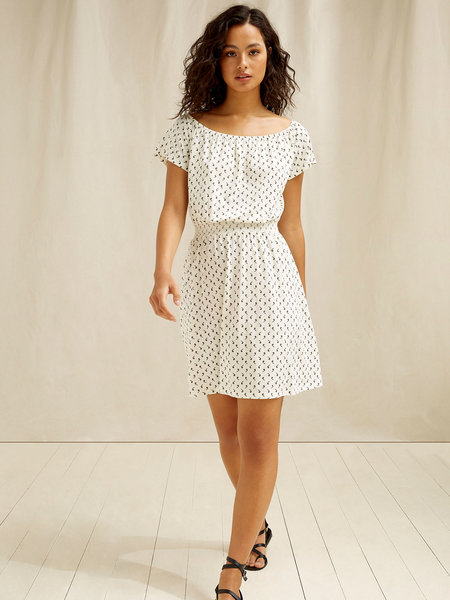 Ingrid Olive Print Dress