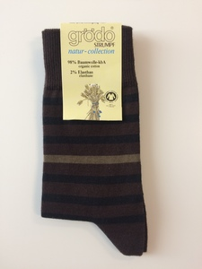 grödo Socken/Strümpfe, halbgeringelt/uni  ver.Farben 52184 Biobaumwolle unisex - grödo