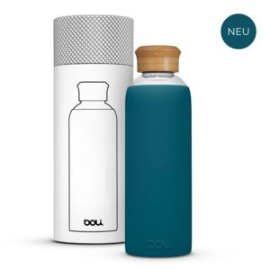 Glasflasche 0,5L mit Schutzhülle, umweltbewusst BPA-frei ohne Schadstoffe - Doli