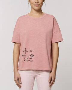 "Kastenförmiges Bio Damen T-Shirt ""Mood - You´re Not Alone"" in 3 Farben - Human Family"