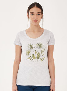 Garment Dyed T-Shirt aus Bio-Baumwolle mit Blatt-Print - ORGANICATION