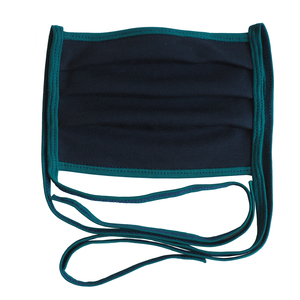 Wiederverwendbarer Behelfs-Mundschutz Marine/Smaragd - bingabonga®