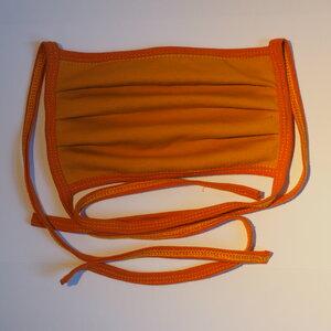 Wiederverwendbarer Behelfs-Mundschutz Senfgelb/Orange - bingabonga®