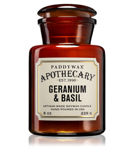 Duftkerze Apothecary Geranium & Basil - Paddywax