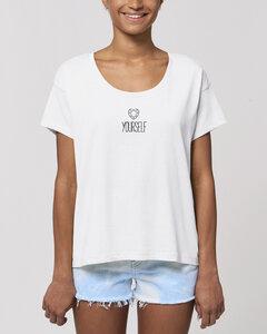 "Bio Damen oversize Rundhals T-Shirt - Spread ""Selflove"" - Human Family"