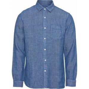 Hemd - ELDER LS small striped linen shirt - KnowledgeCotton Apparel
