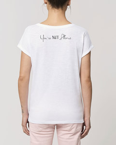Damen Flammengarn Rundhals T-Shirt - Flame 'You are Not Alone' - Human Family