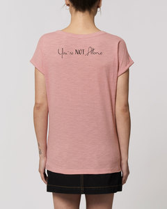 """Damen Flammengarn Rundhals T-Shirt - Flame """"You are Not Alone"""" - Human Family"""