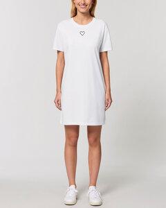 "Kurzärmeliges Bio Damen T-Shirt-Kleid ""Streetlove"" - Human Family"