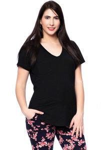 CASSI zweilagiges Oversized Umstands- und Stillshirt aus Tencel-Modal - Milchshake