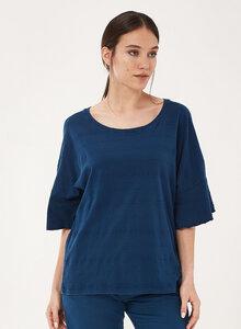 T-Shirt aus Bio-Baumwolle mit Volant-Ärmeln - ORGANICATION