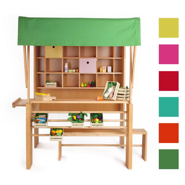 naturehome kaufladen aus holz buche mit markise avocadostore. Black Bedroom Furniture Sets. Home Design Ideas