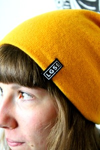 Indian yellow beanie - Lets Go Surfing Clothing