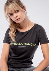 Damen T-Shirt #Worldchanger - Erdbär