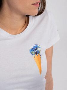 """Damen T-Shirt """"Earthcream"""" - Erdbär"""