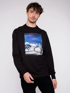 "Herren Sweater ""Mountain view"" - Erdbär"