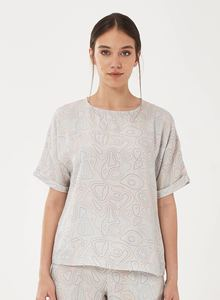 Bluse aus Tencel mit Allover-Print - ORGANICATION