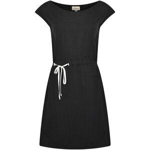 Kurzes Kleid mit Bändern schwarz oder weiß Tencel - SinWeaver alternative fashion