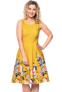 IRIS Kleid mit Blumenbordüre - Ingoria