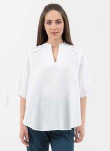 Bluse aus Leinen mit Bio-Baumwolle - ORGANICATION